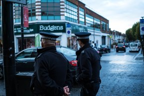 4/5 Immigrant Landscapes: a photo series in Southall Immigrants often have to take their security into their own hands. Police are rarely seen as friends but more like patrol squads from out of town. Anytime an outside threat appears, locals come out in masses to resist, protect and keep law and order. Thug life since the day they arrived.